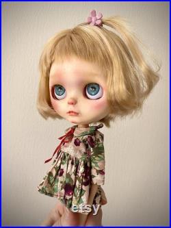 OOAK Blythe doll Lida , custom Blythe TBL, red brown hair Blythe, blythe doll, fantasy doll, sweet doll