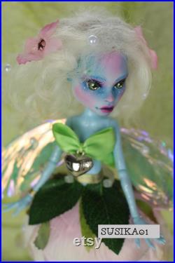 OOAK Doll Repaint Monster High Fairy Original Art Doll Abbie by Susika