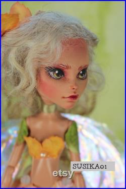 OOAK Doll Repaint Monster High Fairy Original Art Doll Phoebe by Susika