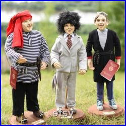 OOAK Dolls, Art Dolls, Sculpture Paperclay Doll, Art Doll Russia, Handmade Doll, assemblage art, Nikulin, Caucasus, Nostalgia, Retro, 60s