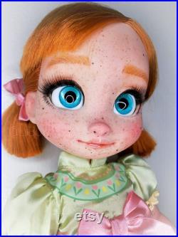 OOAK Hand-painted Disney Animator Anna Doll (Repaint)
