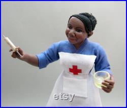 OOAK Miniature polymer clay doll