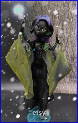 OOAK Monster High Repaint Custom Monster High art doll. Northern Lights