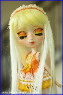 OOAK Peach Pudding Full Custom Pullip Doll