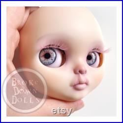 Ombré Lavender Hair Custom Blythe Doll, Gothic, Broke Down Dolls, OOAK