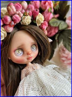 Ooak. Custom takara petite blythe doll. Reroot.