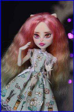 Ooak monster high doll , monster high repaint , monster high , monster high doll hair doll repaint , monster high ooak doll