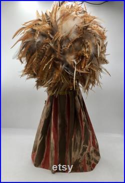 Original Mardi Gras Mischief Doll CELEBRATION SHAMAN S HARVEST Artdoll by Connie Born