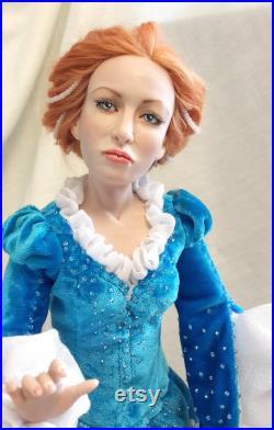 Original art doll, interiot doll, polymer clay doll, Collecting doll, interior decor doll, handmade doll, artist doll, human figure doll