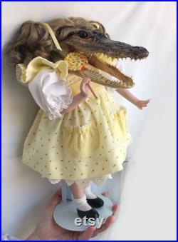 PRE ORDER Candy Alligator Taxidermy Doll alligator doll taxidermy doll oddity doll creepy doll alligator head real alligator