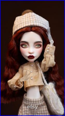 PaperArk guaikaxiaozhen OOAK Custom Art Doll Repaint Monster High head
