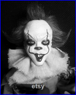 Pennywise IT Handmade Posable Art Doll