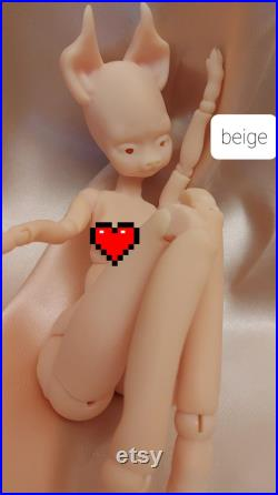 Pigling BJD Ball jointed doll, artdoll, articulating figure Only doll, no face up, no eyes, stringed
