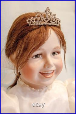 Porcelain doll Polina, Artist Collectible Doll