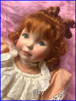 RARE Peaches and Cream, Artist Signed Doll Dianna Effner, Ashton Drake Limited Edition Collectible Vintage Porcelain