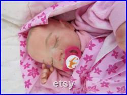 Reborn Baby Girl, Sleeping, Gena, Michelle Fagan sculpt, Lifelike, Newborn, Realistic, Babies4U Nursery