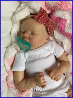 Reborn Baby, Twin A by Bonnie Brown, HIGH QUALITY Reborn Doll, COA and Tummy Plate include