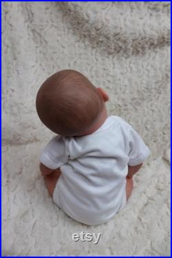 Reborn Baby Was SOFIA . doll, full limbs Outfit may vary Oscar, child friendly, floppy heavy SUNBEAMBABIES, pacifier and clip, box opening