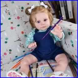 Reborn Toddler Girl Doll,Fake baby dolls, Baby Dolls, Girl Doll, Baby Dolls with Accessories, Reborn Toddler Dolls, Painted Dolls Handmade