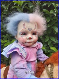 Reborn alternative clown hybrid baby