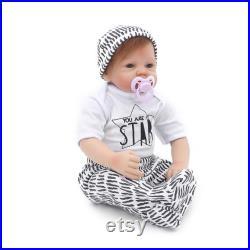 Reborn baby doll Lifelike RebornDoll vinyl simulation baby soft collection