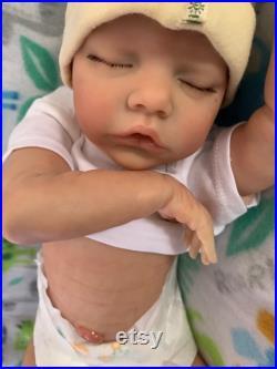 Reborn doll Twin B Bonnie Brown baby 17 RebornsbyJill Custom order
