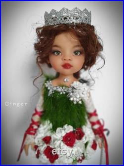 SOLD Paola Reina OOAK doll repaint doll vinyl doll collectible doll handmade doll arte bambola doll art fantasy doll christmas doll