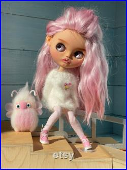 SOlD OUT Blythe doll natural pink hair blythe custom doll with free gift Magic toy
