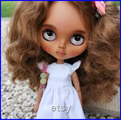 Sale. Custom Blythe doll Tbl. Dark skin baby.
