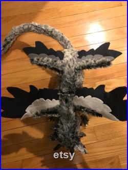 Silver Demon Dog OOAK Art Doll