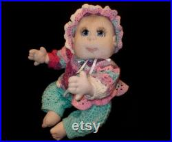 Soft Cloth Baby Doll, Soft Sculpture Doll, 22 Doll USA Made, READY to SHIP