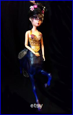 Sold Lin Xhou Chinese Centauride warrior. OOAK, horse lady, BJD doll, repaint, remake, costume and accesories