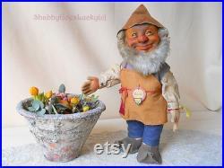 Steiff gnome Gucki with all IDs, produced 1953 58, 12 German dwarf doll