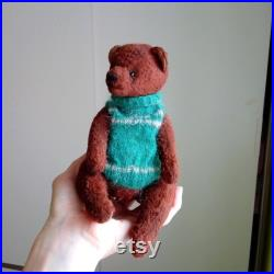 Teddy bear, handmade, author's toy, OOAK, artist teddy bear, stuffed and plush animals, collectable jointed bear, unique