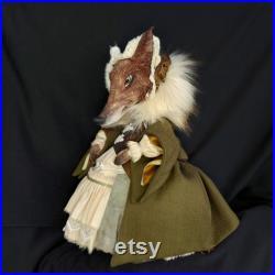Textile Art Doll Alice Fox
