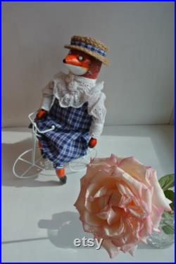 Textile Fox Doll Art Doll Fox on a picnic