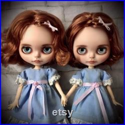 The Shining Grady Twins blythe custom doll to halloween set