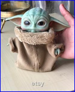 Tiny Baby Yoda Realistic Inspired Art Doll