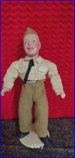 WW II GI Soldier 15 Composition Doll.
