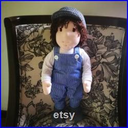 Walldorf Boy Doll 20 Steiner doll, Textile Doll