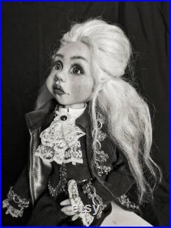 handmade doll Count Son-Germain Halloweendoll Art dollOOAK dollinterior gift handmade art doll
