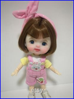 ob11 doll head wig body clothes,baby bjd doll,ooak doll,handmade doll,mini doll