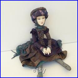 pose art doll, posable art doll, doll for interior, collectible art doll, Christmas art doll, textile art doll, 30 cm ( 11.8 inches)