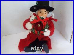 vintage Marshall Fields collection Uncle Mistletoe angel doll ornament 7.5